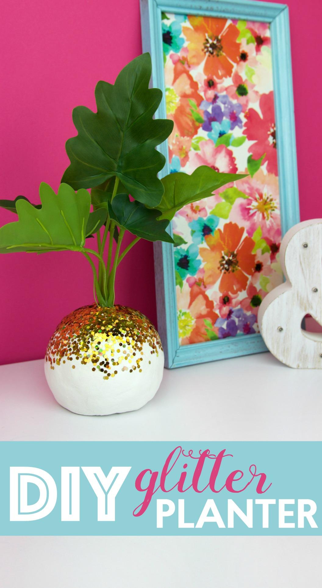 DIY_glitter_planter