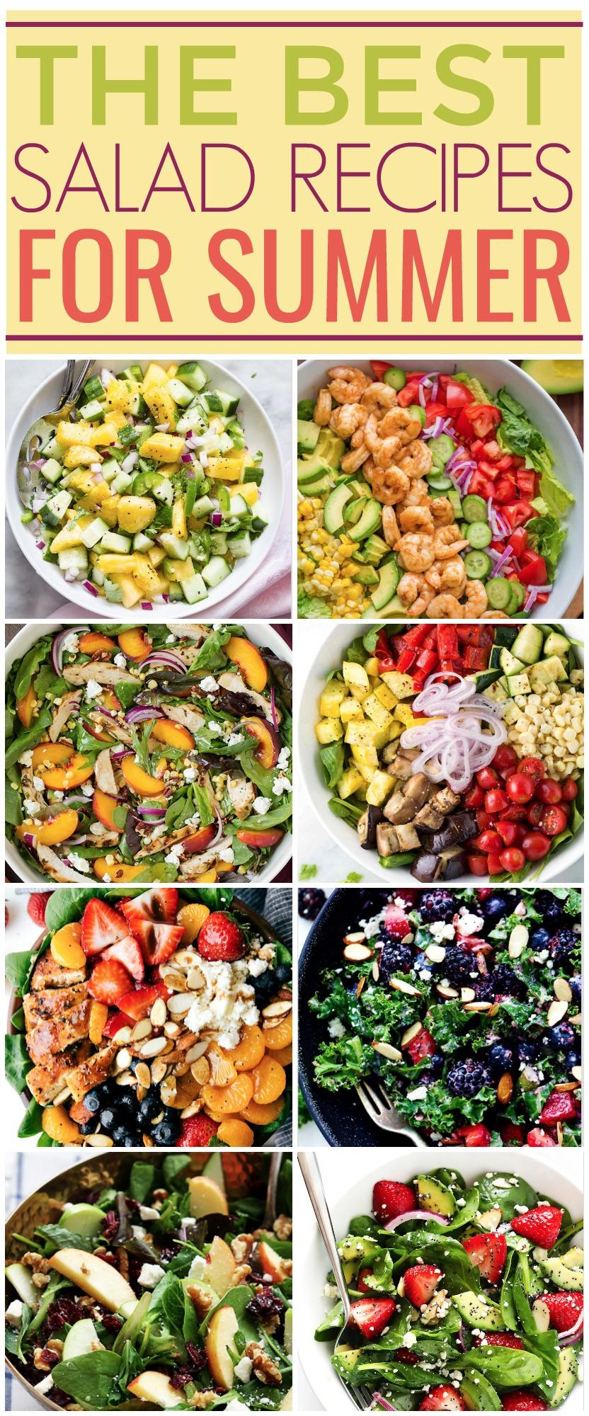summer salad recipes, creative salad ideas
