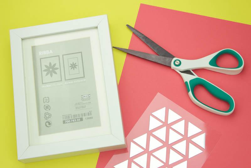diy wall decor, diy dorm decor, diy mirror tile decor, simple wall art ideas