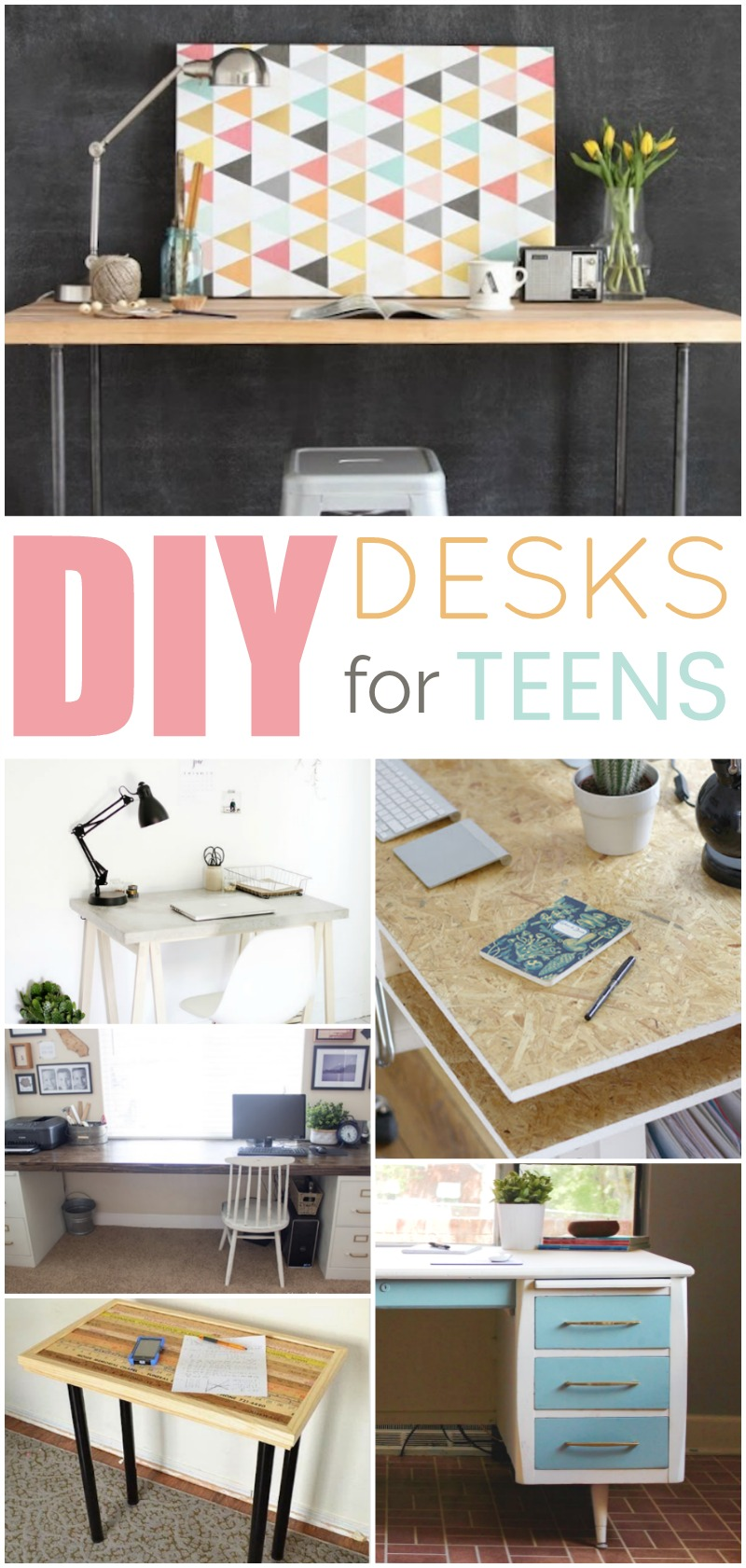 Fabulous Diy Desk Ideas For Teens A Little Craft In Your Day Home Interior And Landscaping Ponolsignezvosmurscom