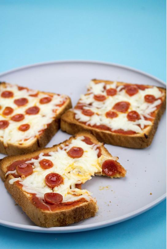 easy pizza recipes, easy snack ideas, kid friendly snacks, toast pizza, easy snack ideas for kids