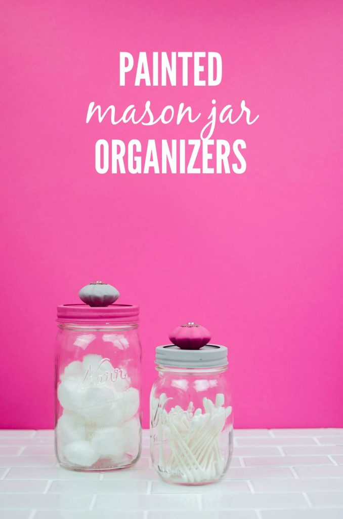 diy painted jar organizers, diy mason jar crafts, mason jar craft ideas, painted mason jar craft