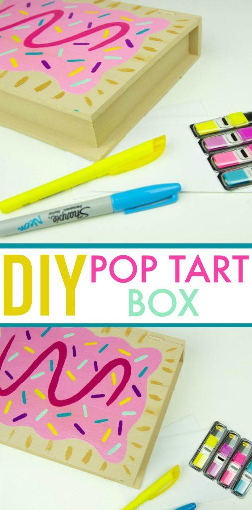 diy teen craft idea, easy teen craft idea, diy teen craft, diy pop tart box, diy dorm decor, diy room decor, diy jewelry box