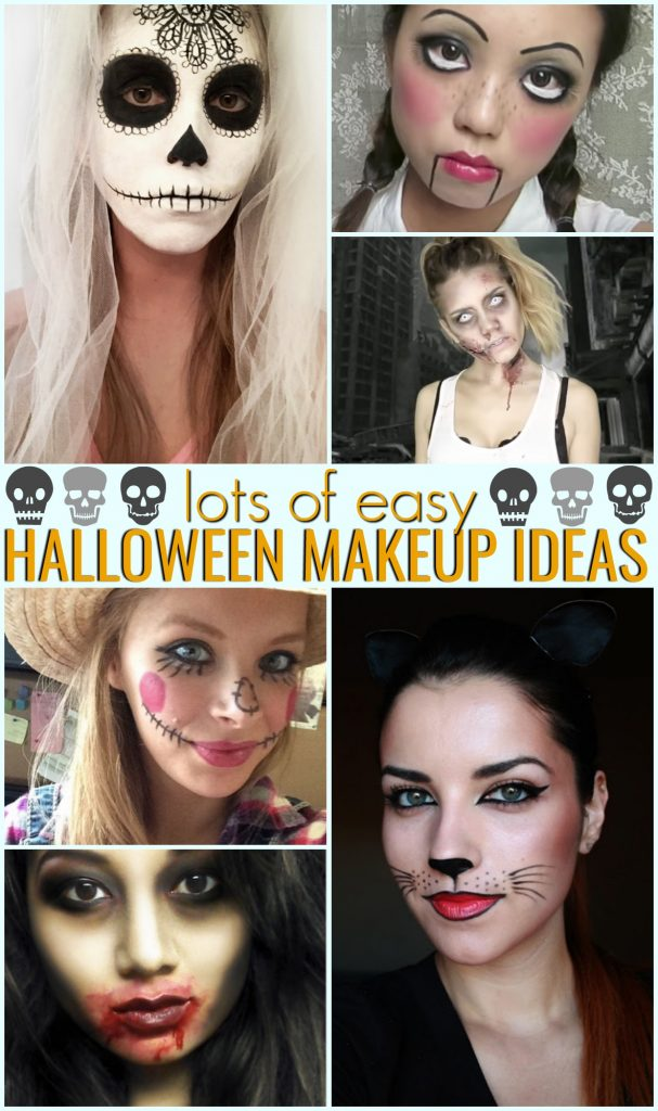Halloween Makeup Ideas For Kids.Easy Halloween Makeup Ideas A Little Craft In Your Day