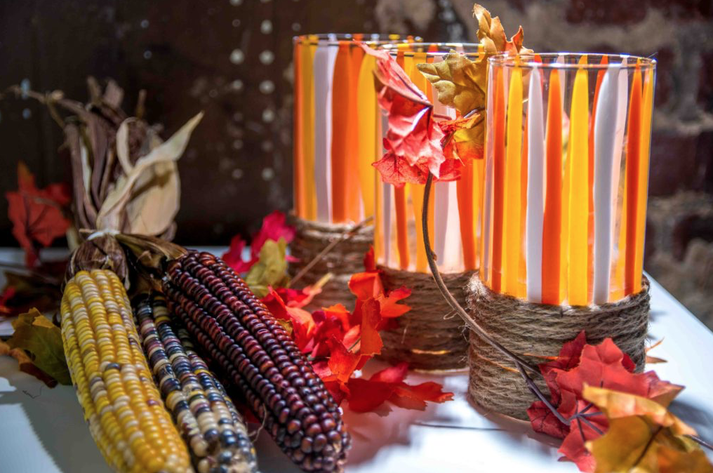 fall lights, fall luminaries, fall craft ideas, diy fall crafts, diy fall decor ideas,