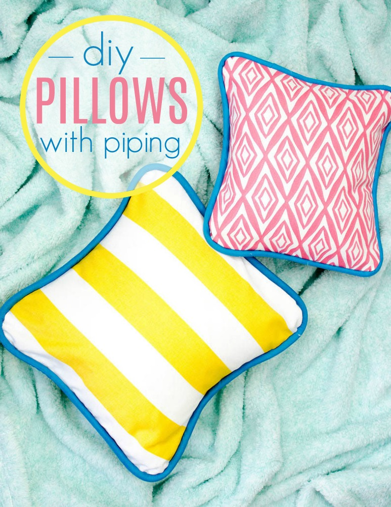 How To Sew A Pillow Cover With Piping A Little Craft In Your Day