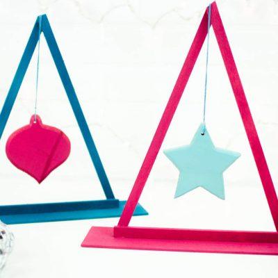 DIY Christmas Tree Ornament Display thumbnail