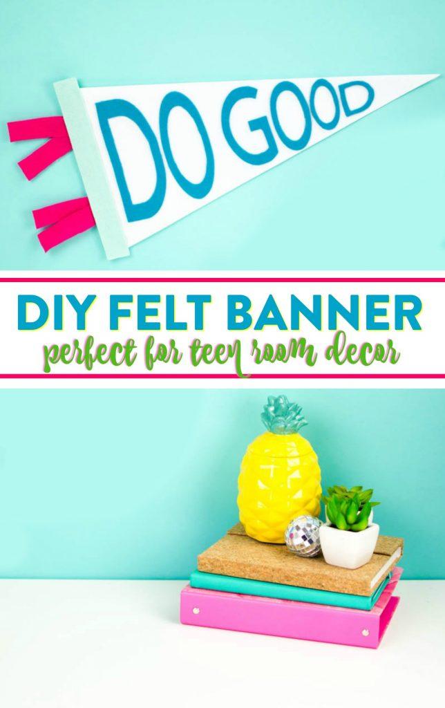 diy teen room decor idea, diy felt banner