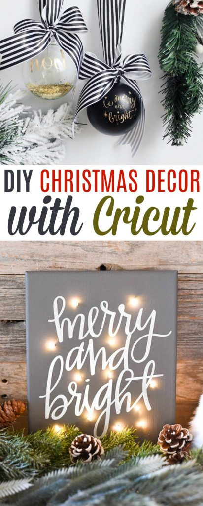 Diy Christmas Decor With Cricut A Little Craft In Your Day