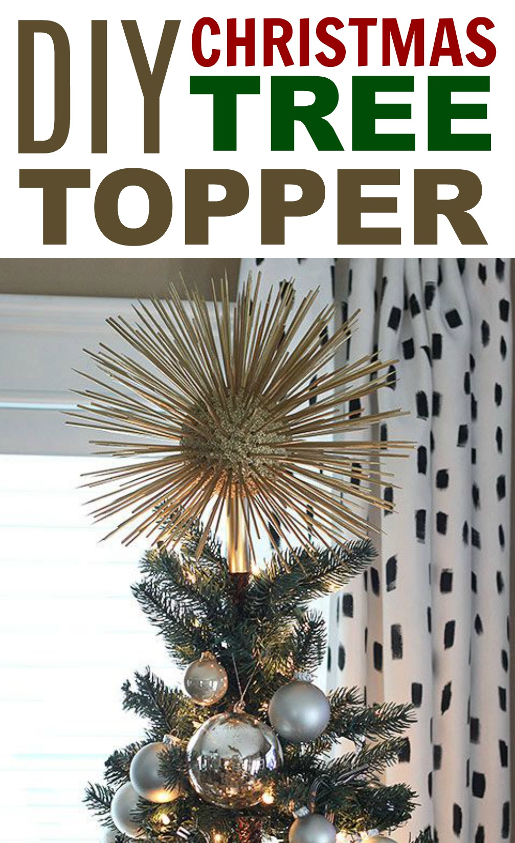 Diy Christmas Tree Topper A Little Craft In Your Day