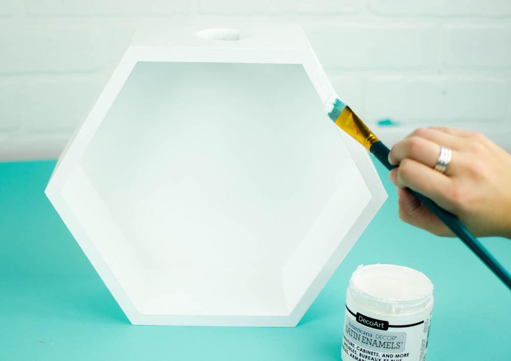 DIY hexagon vase, diy floating vase