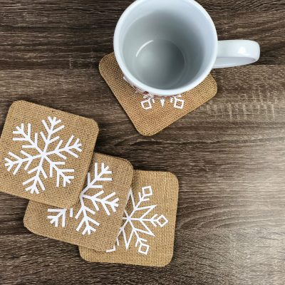 DIY Cricut Snowflake Coasters thumbnail