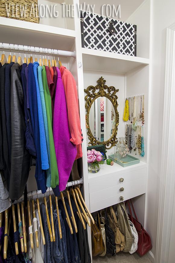 Girly Closet Makeover Reveal
