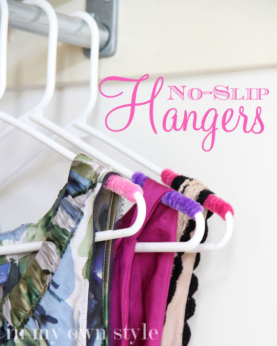 DIY No Slip Hangers