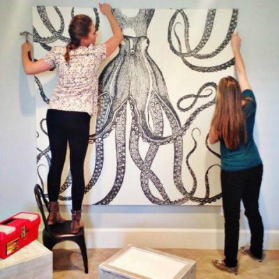 DIY Octopus Art