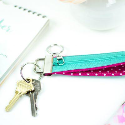 DIY Key Fob- with a zipper compartment thumbnail