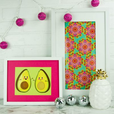 DIY Wall Art from Gift Wrap thumbnail