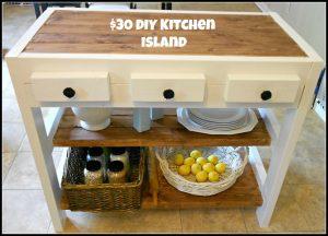 $30 DIY Kitchen Island