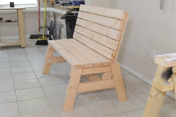 2×4 Bench And Side Table