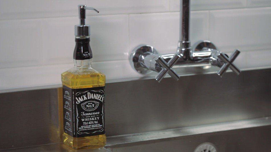 How to Repurpose Your Glass Bottle Into a Soap Dispenser