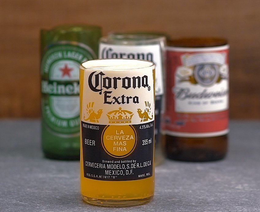 Turn Empty Beer Bottles Into Drinking Glasses