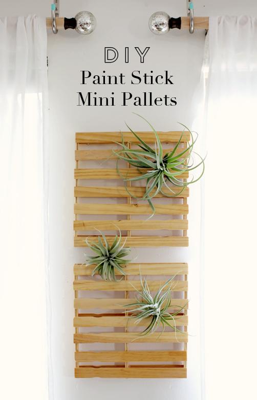 DIY Paint Stick Mini Pallets