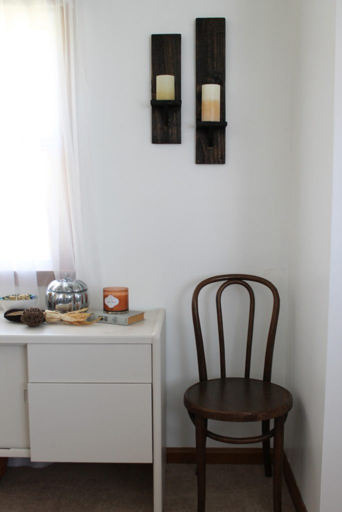 DIY Pallet Wood Candle Sconces