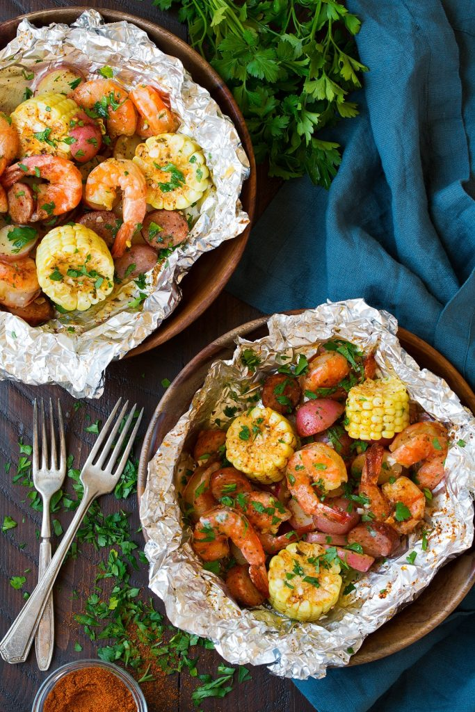 Grilled Shrimp Boil Packs