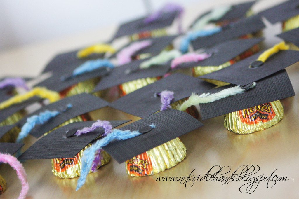 Yummy Reese's Cups Graduation Hats