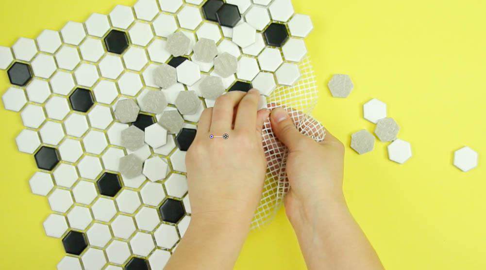 DIY Hexagon Tile Art
