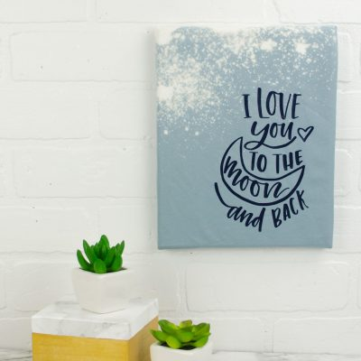 Bleached Canvas Art – Cricut Home Decor thumbnail