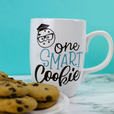 DIY Cricut Graduation Gift – One Smart Cookie Mug thumbnail