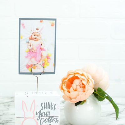 DIY Cricut Easter Photo Display thumbnail