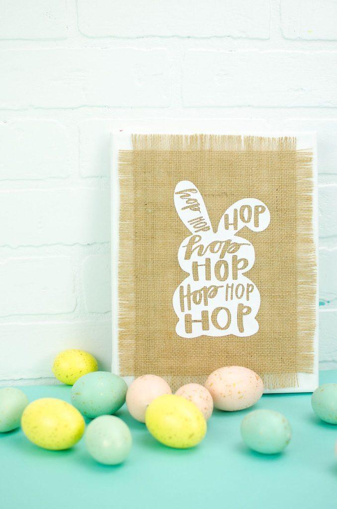 DIY Burlap Easter Canvas