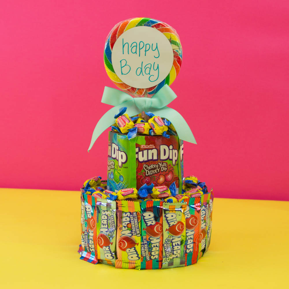Awe Inspiring Diy Candy Cake A Little Craft In Your Day Funny Birthday Cards Online Bapapcheapnameinfo