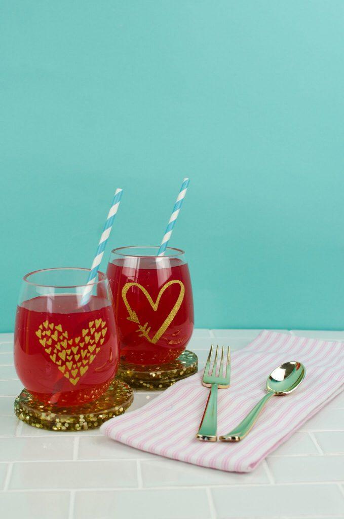 DIY Heart Cups