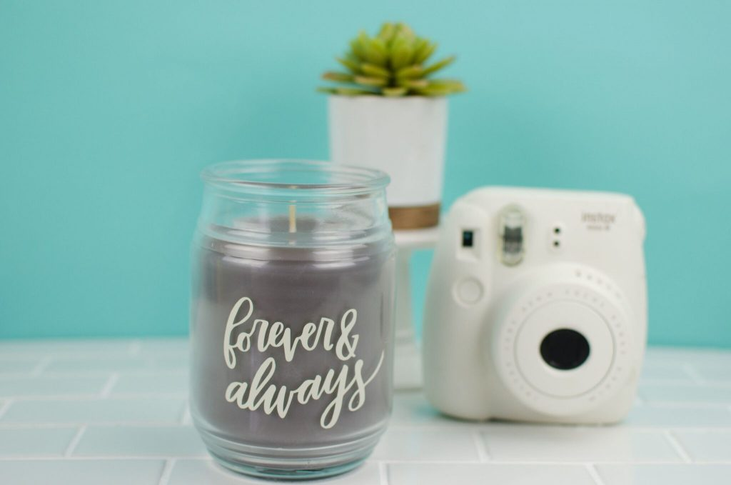 "DIY ""Forever & Always"" Candle"