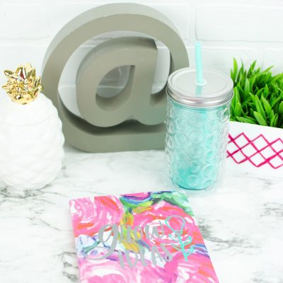 DIY Cricut Vinyl Decal Notebooks thumbnail