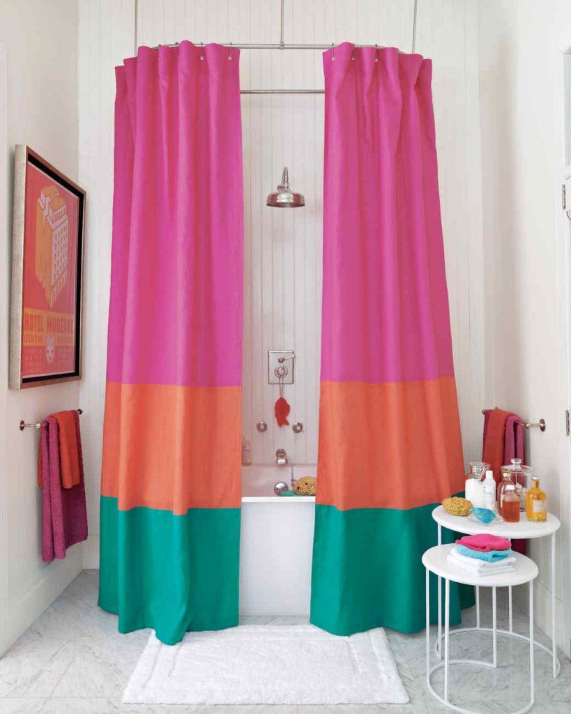 Color-Block Shower Curtain