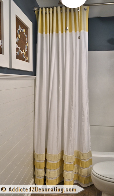 Make An Extra Long Shower Curtain With Pleated Ruffle Accents