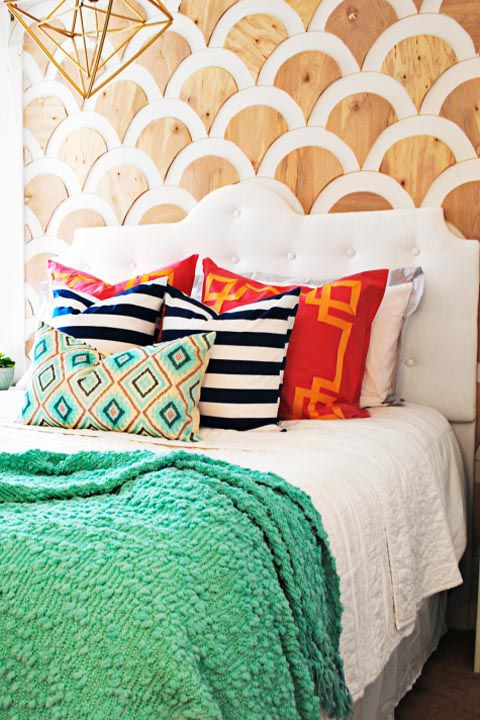 How to DIY a Scalloped Wall