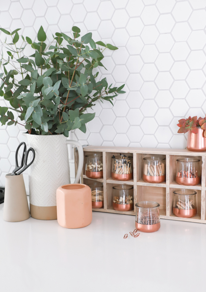 DIY Organization Glass Pot Catch-All
