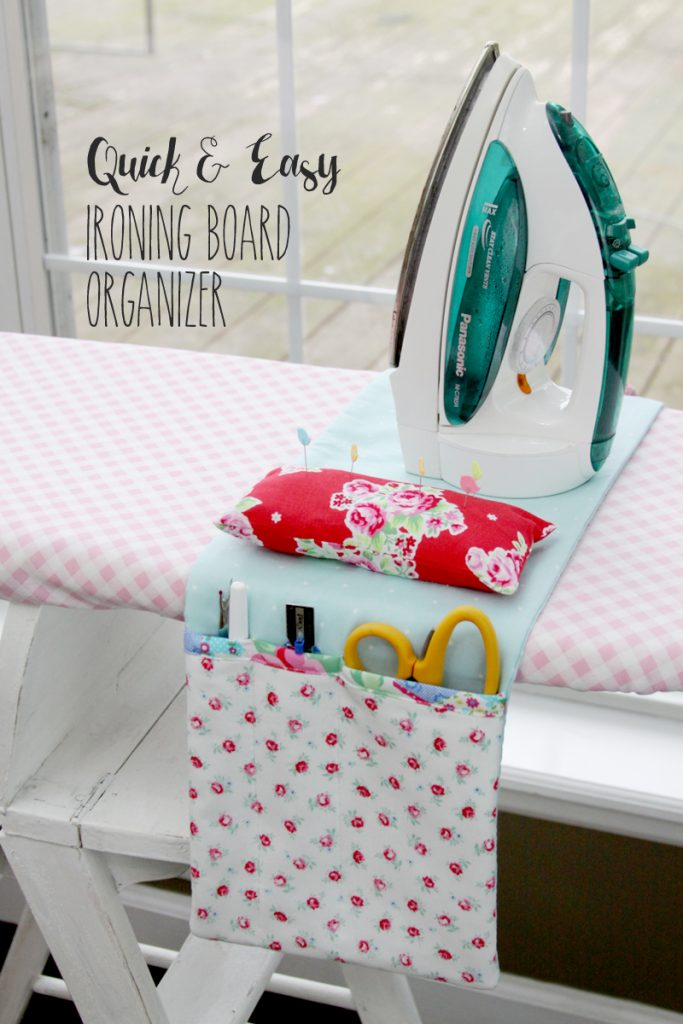DIY Ironing Board Organizer