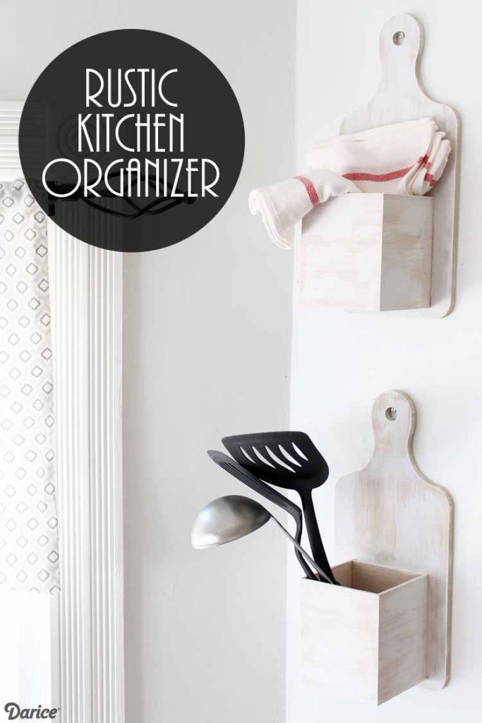DIY Rustic Kitchen Organizer