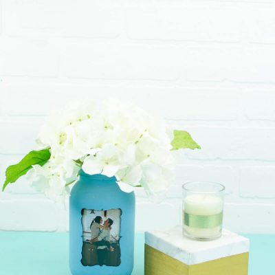 Mason Jar Photo Frame Vase thumbnail