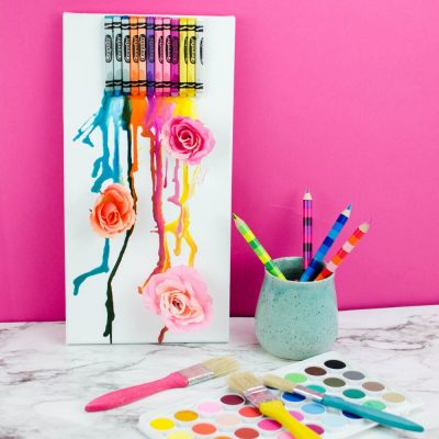DIY Melted Crayon Art thumbnail