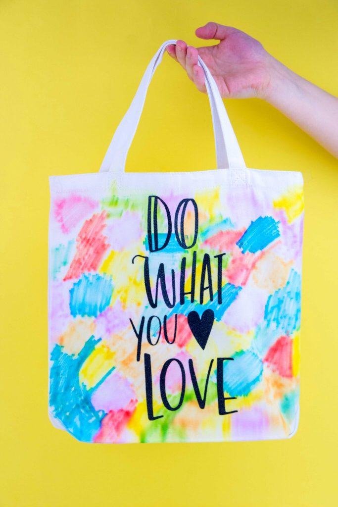 Faux Sharpie Watercolor Tote Bag
