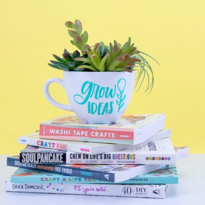 DIY Mug Succulent Planter – DIY Cricut Project thumbnail