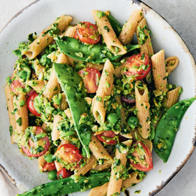 Wholewheat Pasta with Watercress Pesto