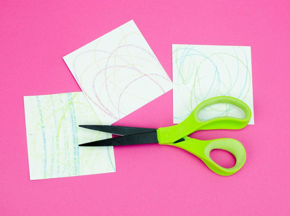 Pretty DIY Coasters From Kid's Art